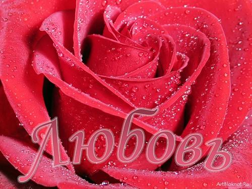 С Днем ангела, Любовь! Роза