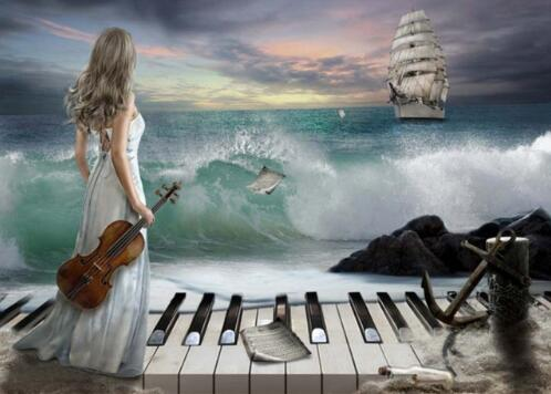 С днем музыки. Вдохновение моря открытки фото рисунки картинки поздравления