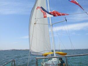 Прогулка на яхте под парусом - отдых в Керчи