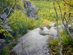 Спуск с Алибекского водопада.