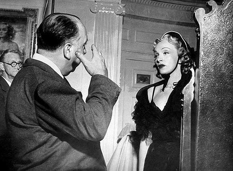 10. С Марлен Дитрих на съемках фильма «Страх сцены», 1950 год.