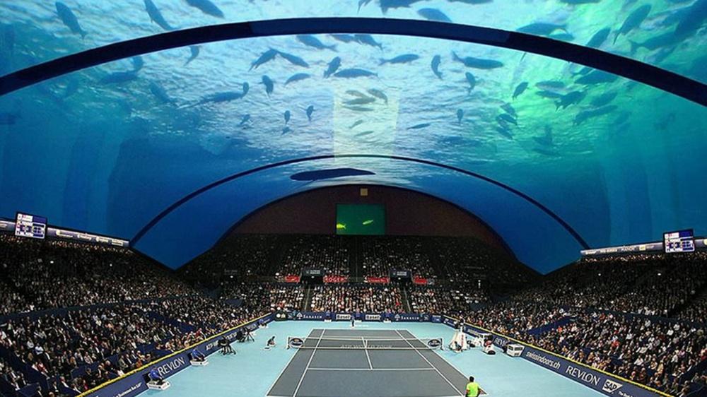 © mirror     Проект подводного стадиона вДубае.