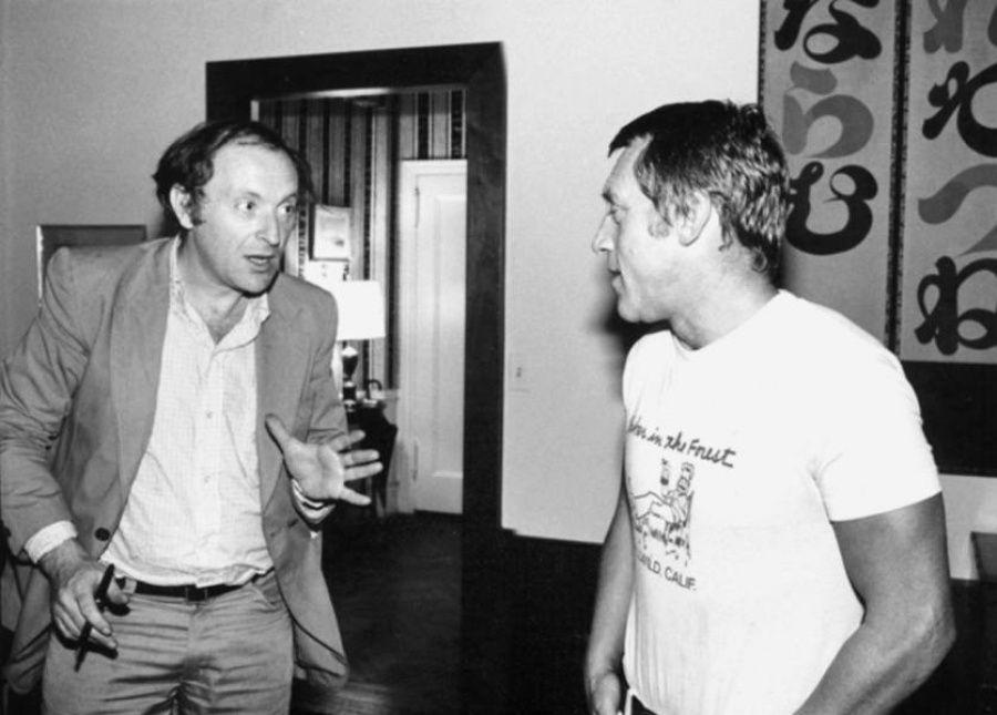 6. Иосиф Бродский и Владимир Высоцкий, Нью-Йорк, 1979 г. Фото Л. Лубяницкого.