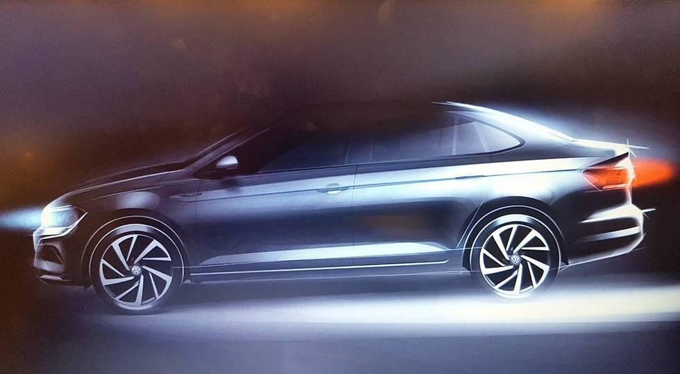 Очередное изображение седана Volkswagen Polo нового поколения (4 фото)