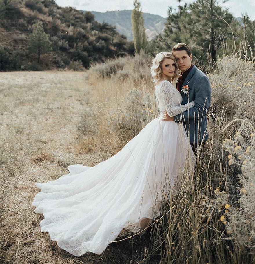 В день своей свадьбы 23-летняя Джордин Дженсен (Jordyn Jensen) из городка Бойсе, штат Айдахо, была в