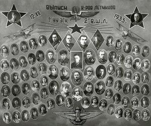 2 Военная Школа Лётчиков. 1933 г.