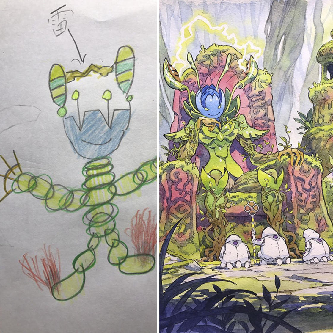 French illustrator continues to turn his kid's drawings into badass characters!