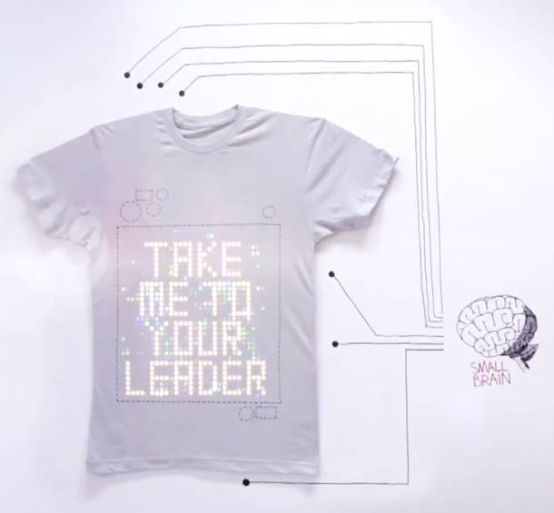 tshirtOS - A T-shirt with a programmable display !