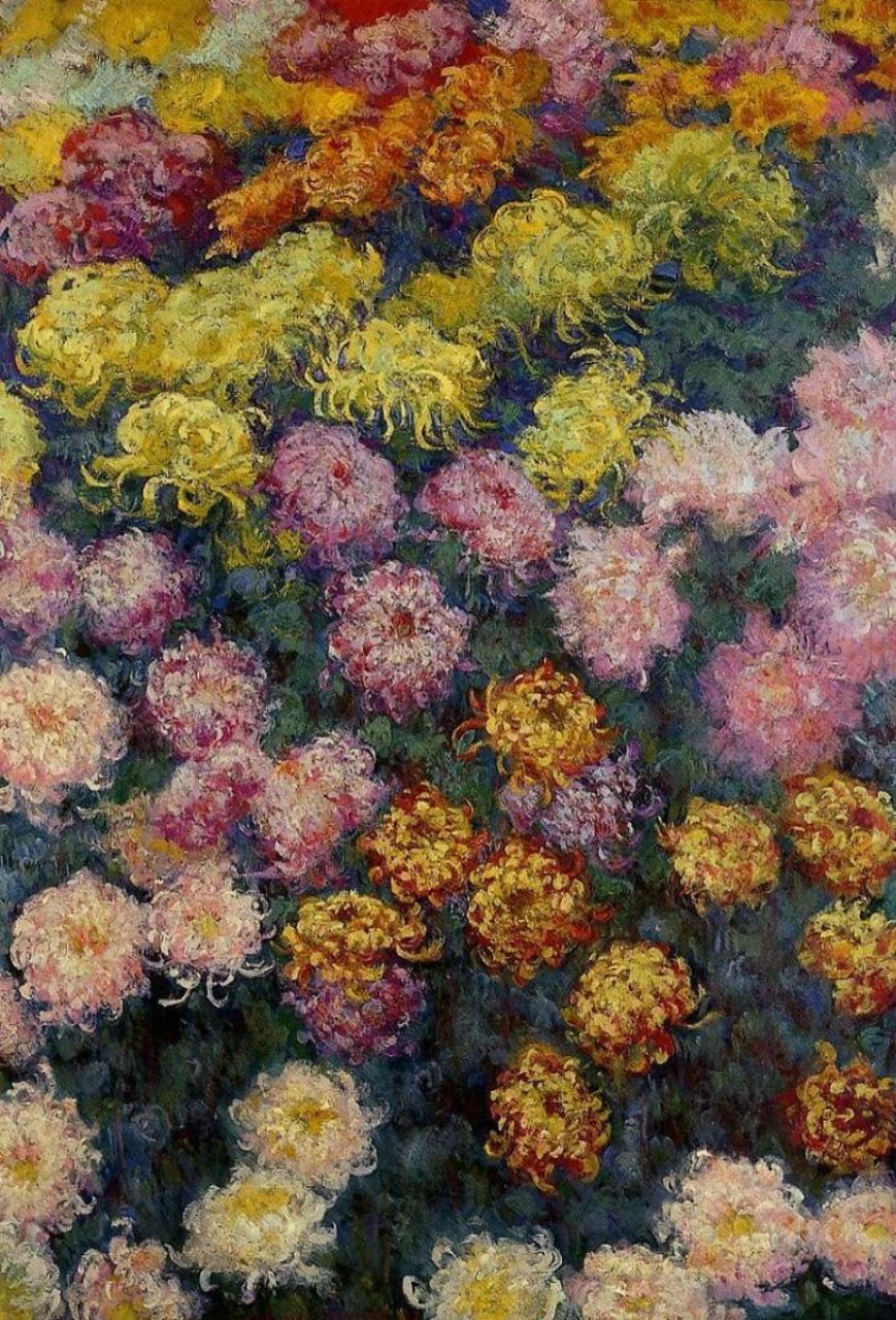 Клод Моне. Хризантемы.
