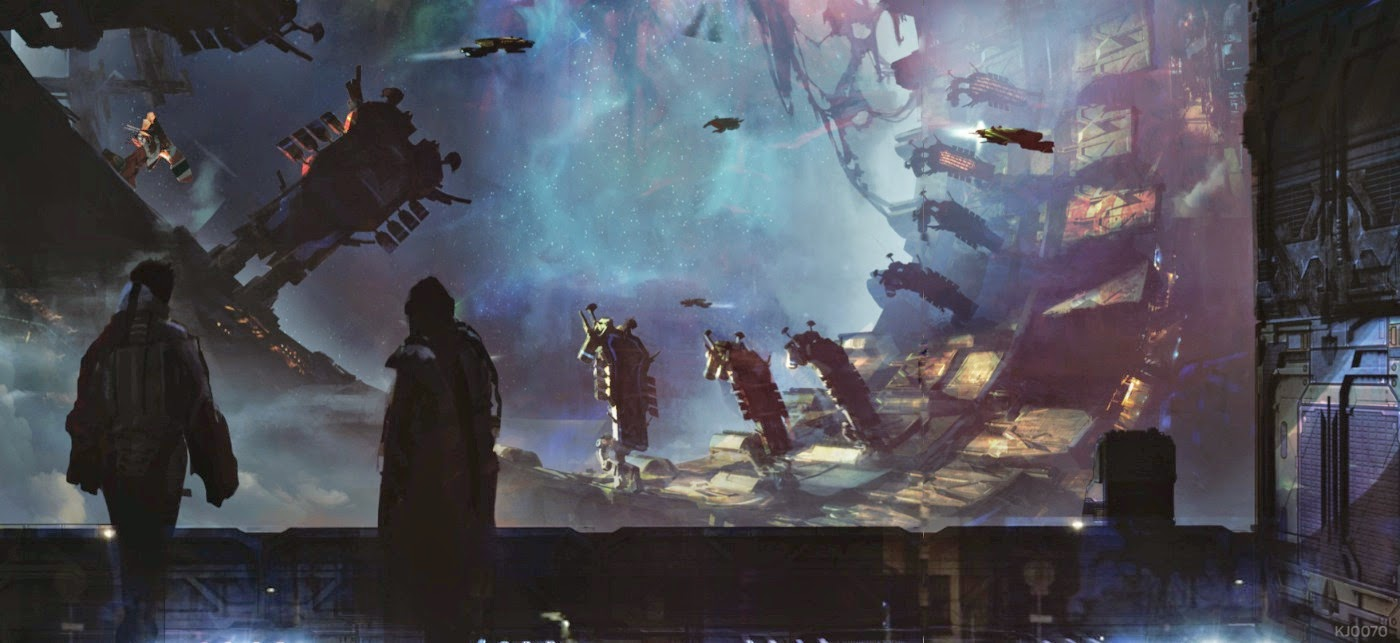 Guardians of the Galaxy Concept Art by Kev Jenkins