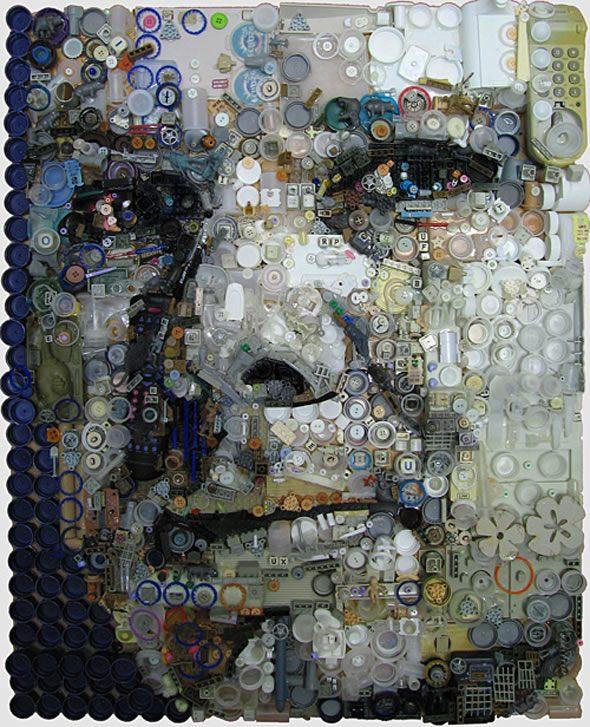 Assemblage Mosaic Portraits – Zac Freeman (9 pics)