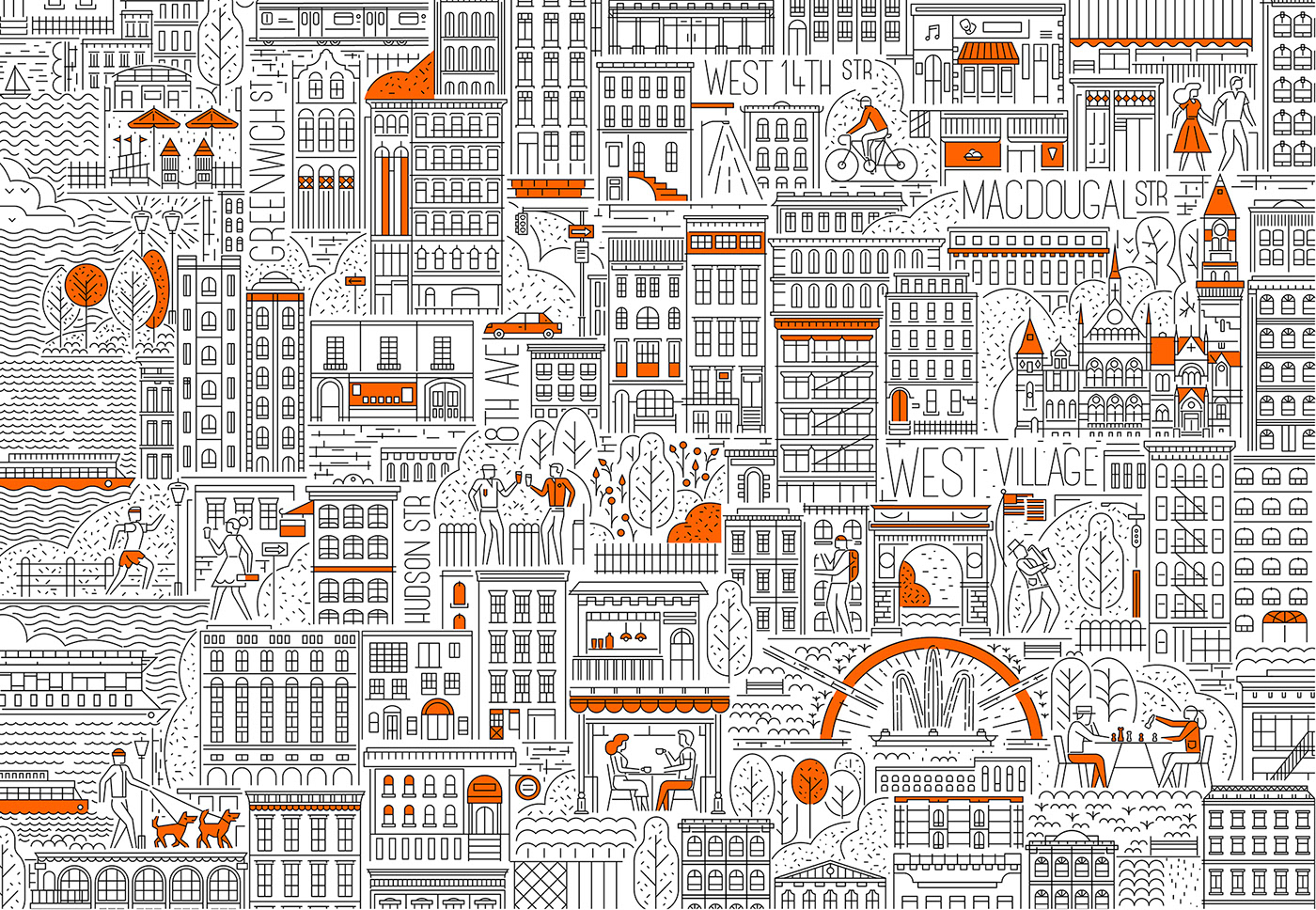 Playful Illustrations of Manhattan