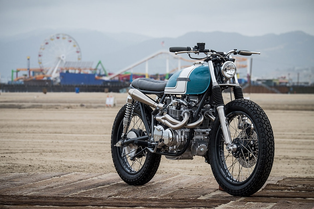 J. Webster Designs: кастом Honda CB550 City Scrambler