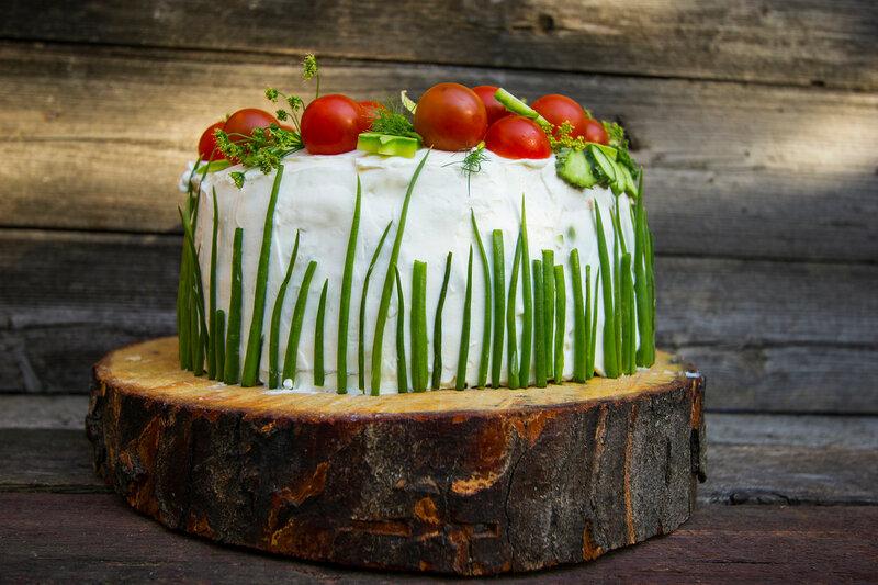 Мой красивый рыбный торт)