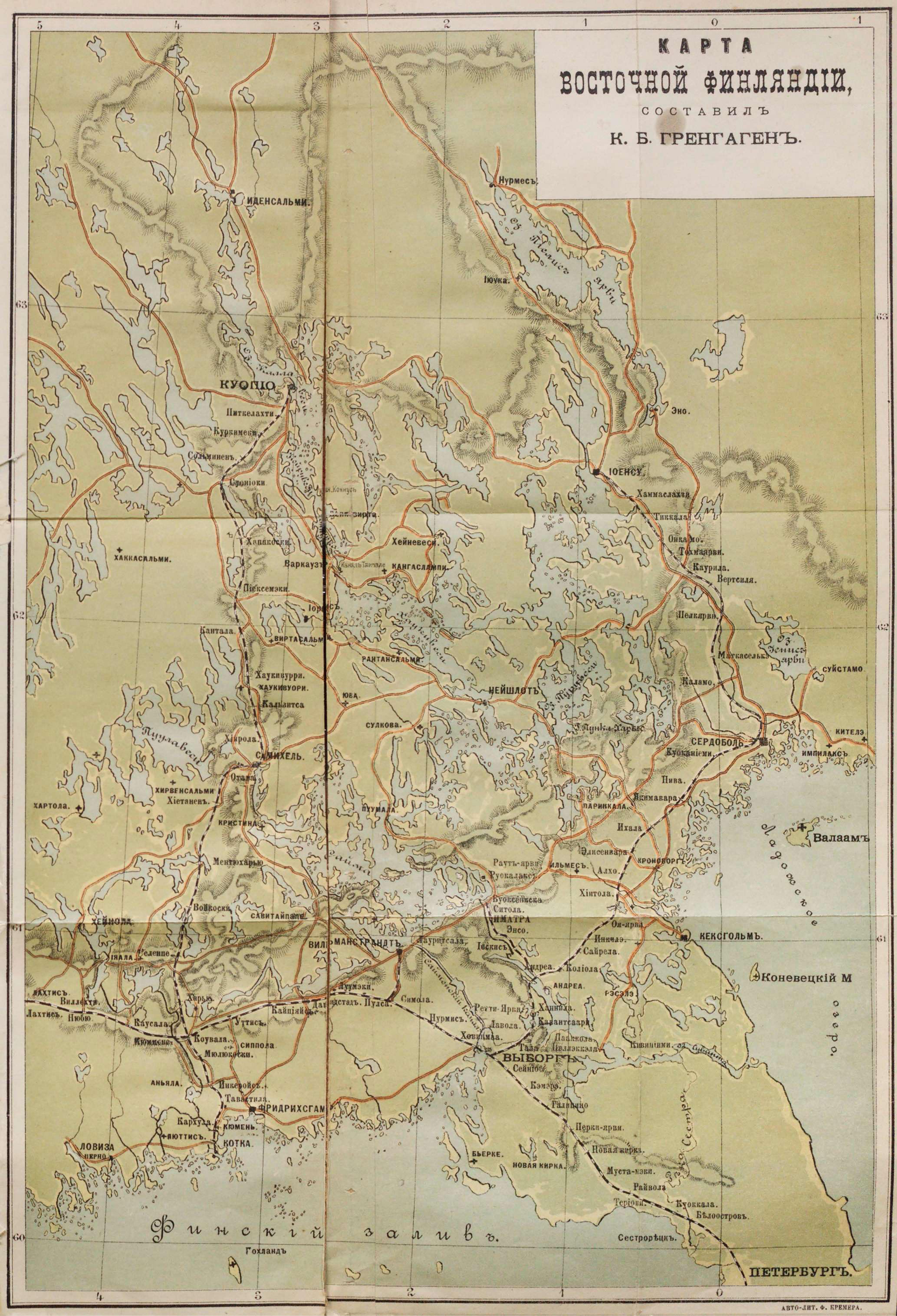 01. Карта Восточной Финляндии