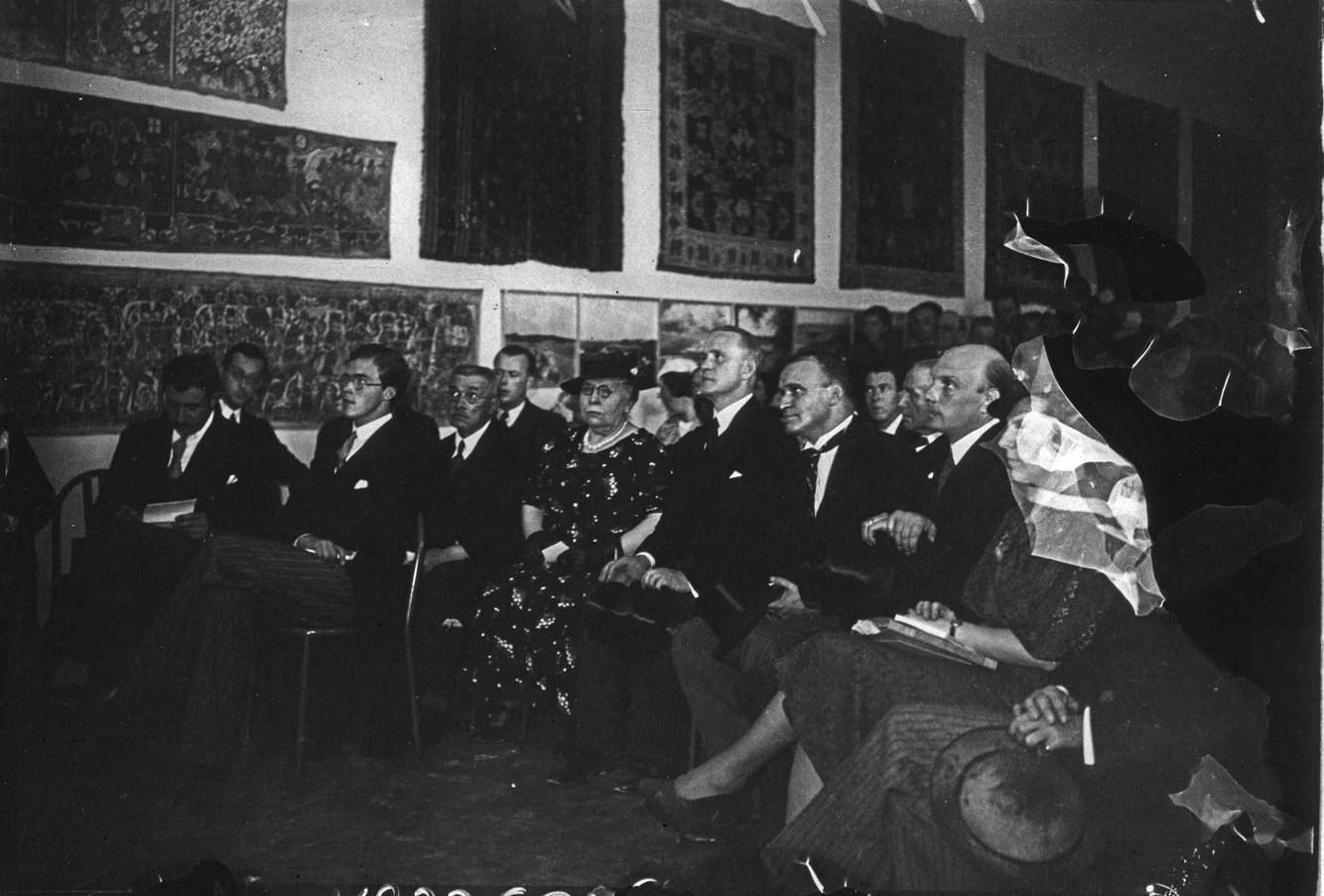 Церемония открытия шведского павильона принцем Карлом Йоханом из Швеции (06 июня 1937)