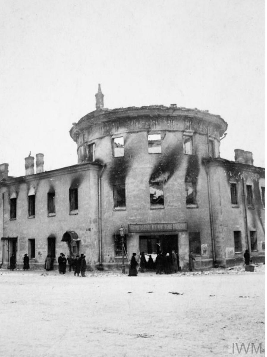 Сгоревшая тюрьма. Петроград