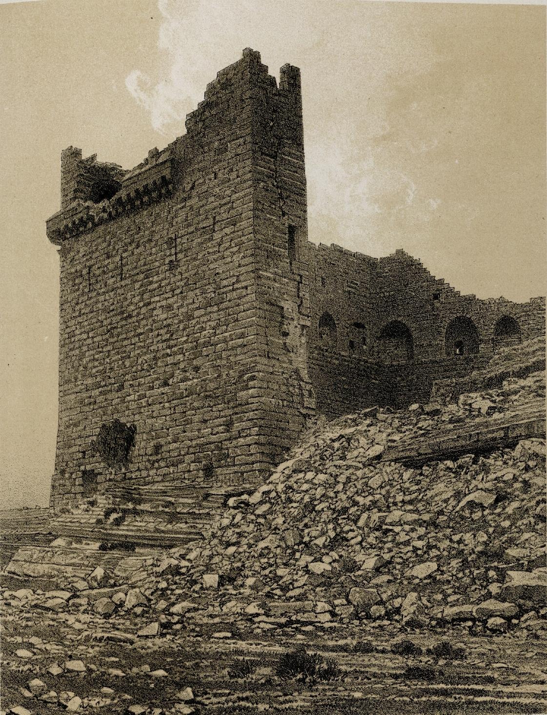 67. Эль-Карак. Детали башни, известной как Малк-эд-Дахер