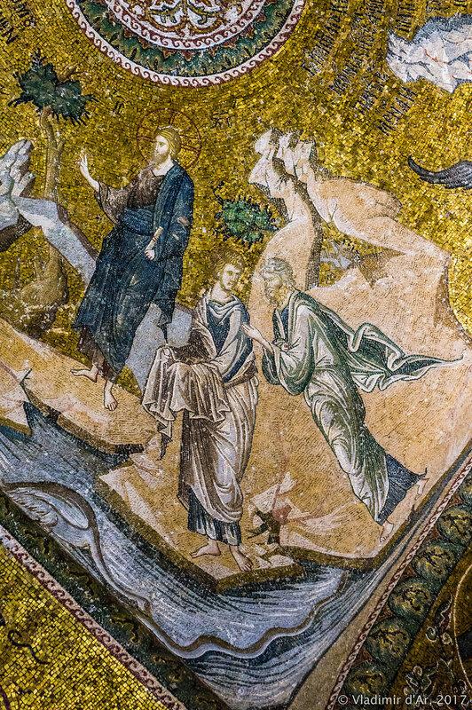 Проповедь Иоанна Предтечи. Мозаики и фрески монастыря Хора. Церковь Христа Спасителя в Полях.