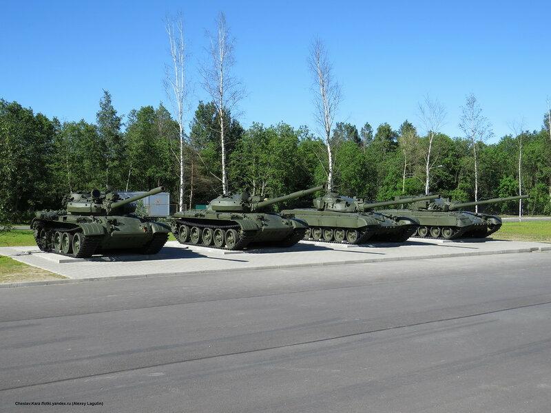 Т-55М, Т-62М, Т-72, Т-80