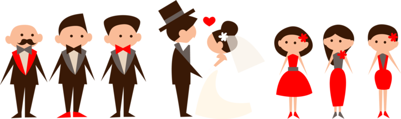 Свадебный PNG клипарт