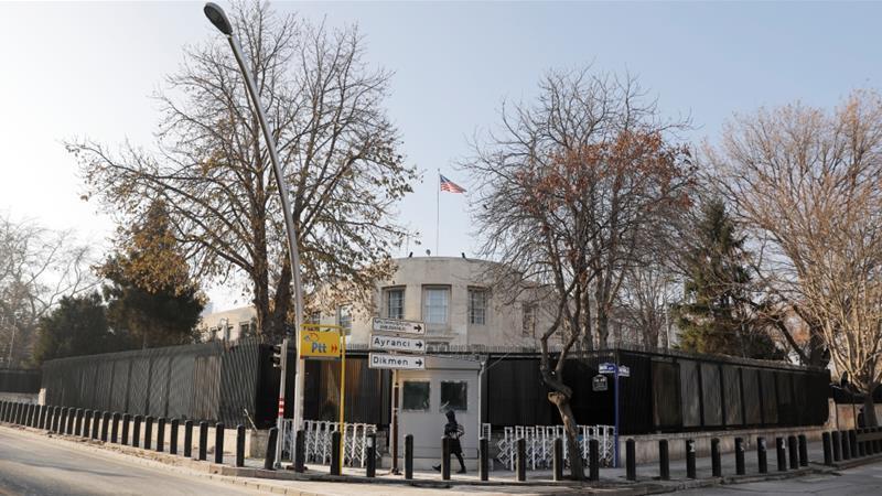 Посольство США вТурции впонедельник закроется посоображениям безопасности
