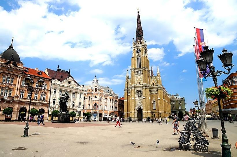 Памятник местному писателю и политическому деятелю Светозару Милетичу.