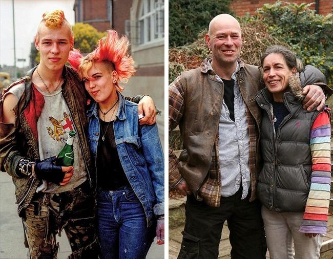 © chrisporsz.com  Панки Тина Тарр иеедруг Дог. Нафото слева— 1985год. Тине 18лет