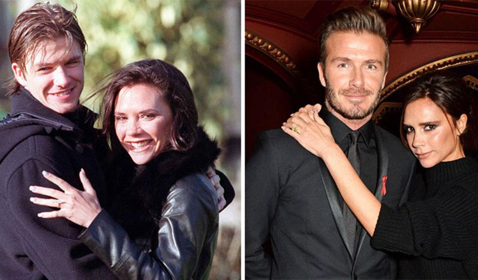 Дэвид и Виктория Бекхэм, вместе 19 лет.