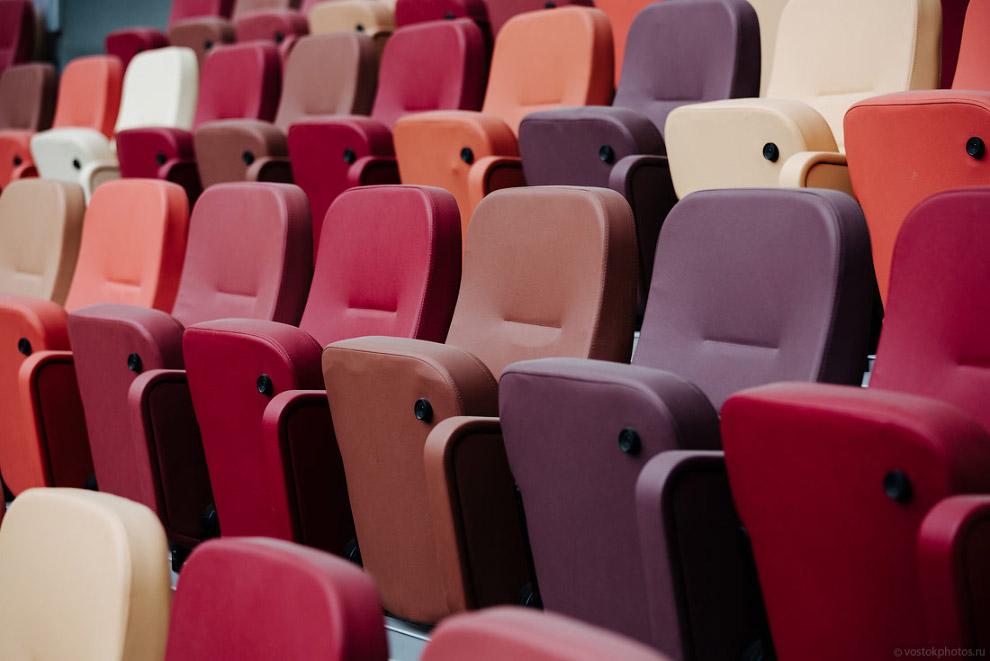 29. Это «президентский люкс». Дорогие кресла с подстаканниками и подогревом.