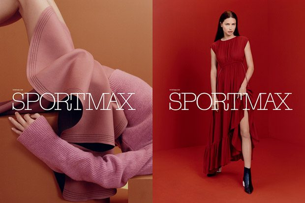 Adriana Lima Models Sportmax Pre-Fall 2017 Collection