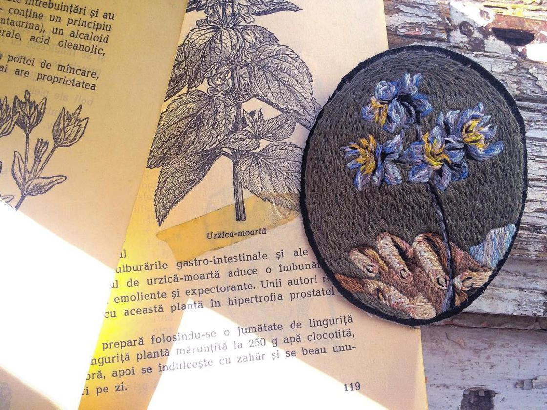 The beautiful embroidery by Lucena