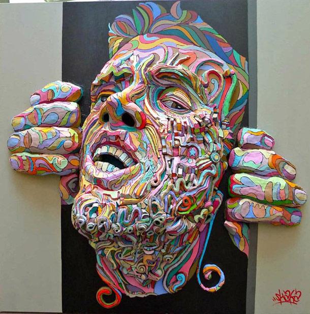 Relief Paintings - Street Artist - Shaka