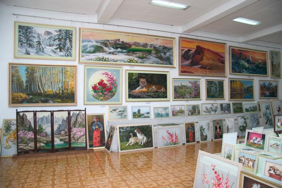 Пхеньян фабрика вышивки