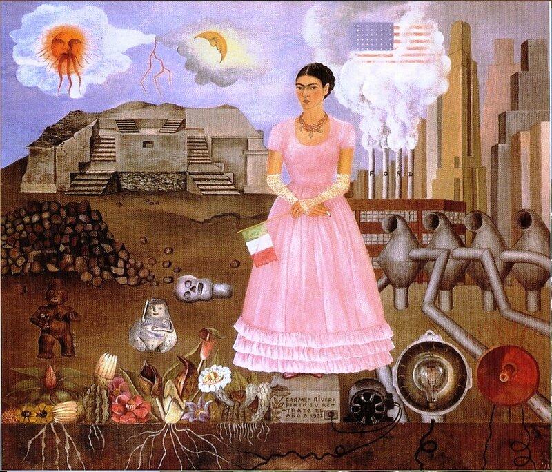 Фрида Кало – 1932 autoportrait a la frontiere du mexique et des etats-unis.jpg