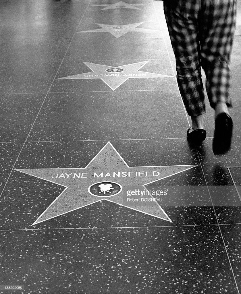 Звезда Джейн Мэнсфилд на Голливудском бульваре в Лос-Анджелесе