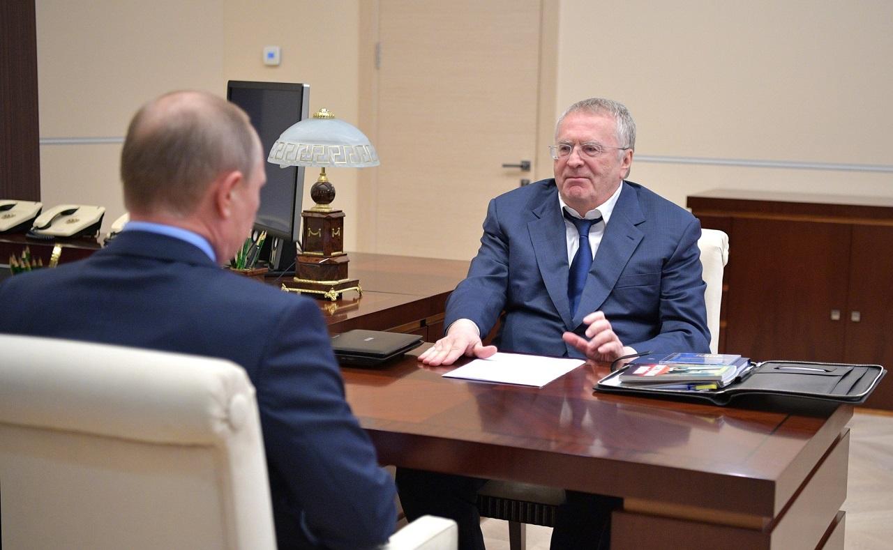 Встреча В. Путина с лидером партии ЛДПР  Владимиром Жириновским 5 июля, 2017, Ново-Огарёво(2)