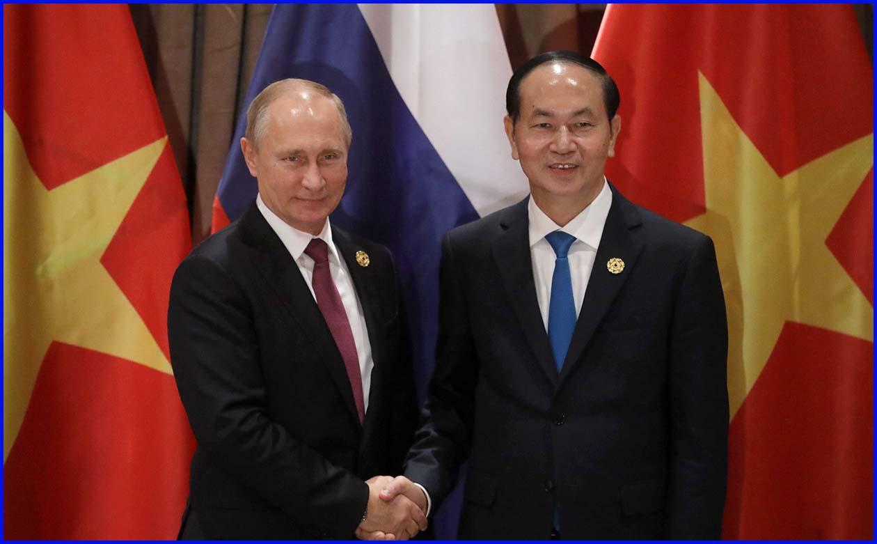 Президент В. Путин на встрече с Президентом Вьетнама Чан Дай Куангом (Дананг) 10 ноября 2017
