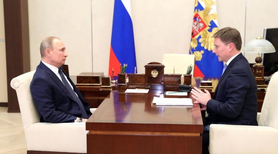 Президент РФ Владимир Путин встретился с главой компании «АЛРОСА»