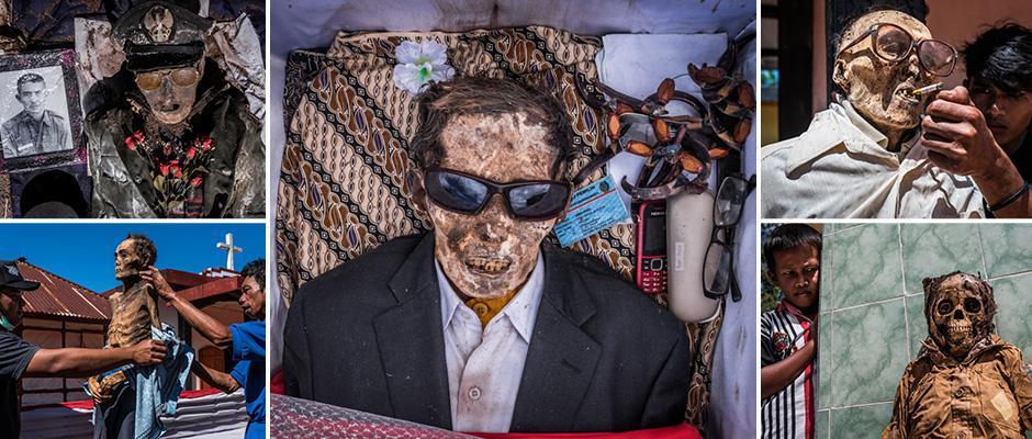 Индонезийские крестьяне в очередной раз выкопали умерших родственников