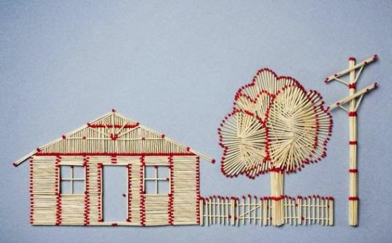 День спички. Дерево у домика открытки фото рисунки картинки поздравления