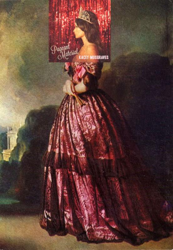 Обложка альбома Кейси Масгрейвс Pageant Material и картина Франца Ксавьера Винтерхальтера «Принцесса