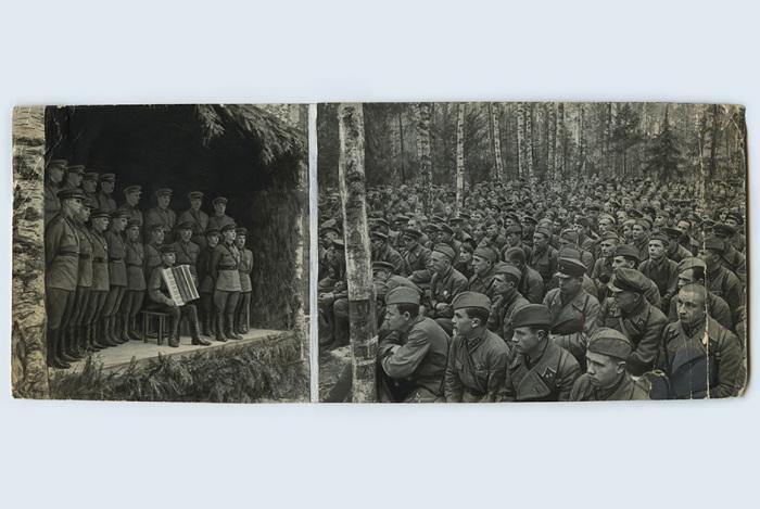 Командированные фотографы отсылали негативы в Совинформбюро, где они подвергались ретуши. Из