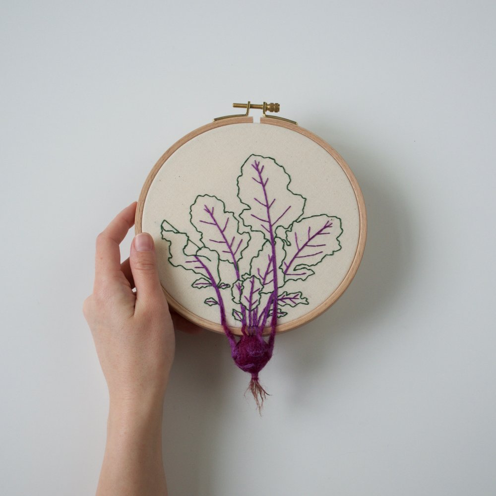 Garden Vegetable and Plant Embroideries by Veselka Bulkan