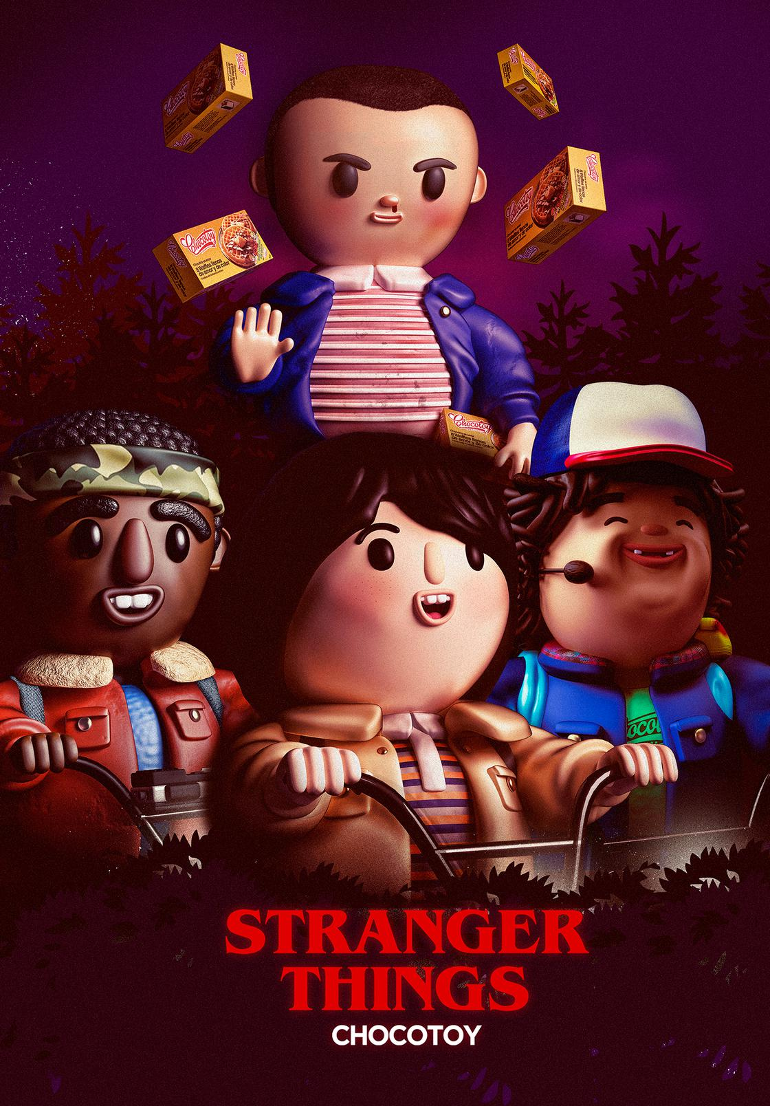 Stranger Toys – The characters of Stranger Things as adorable figurines