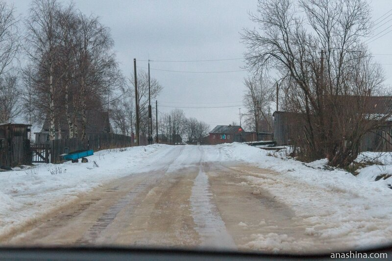 Дорога через деревню, Вологодская область