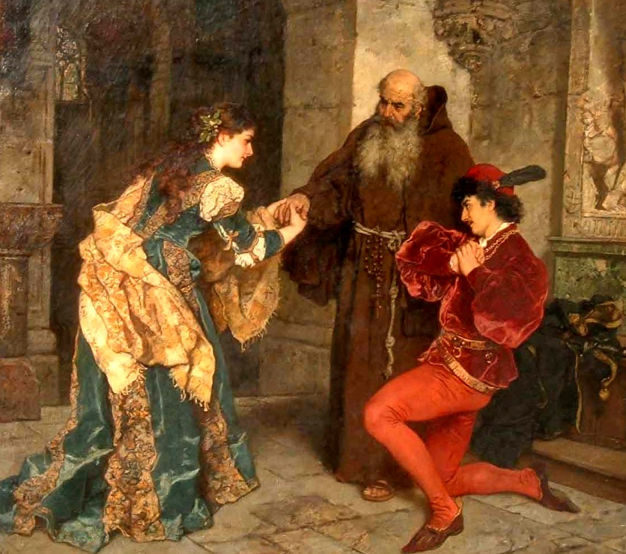 Romeo and Juliet before Father Lawrence