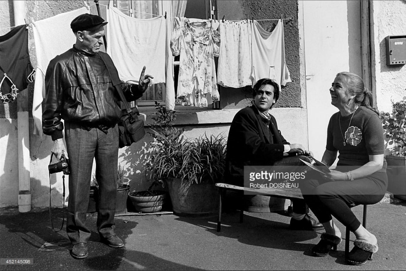 1989. Робер Дуано во время съемок документального фильма Сильвена Руметта, Париж