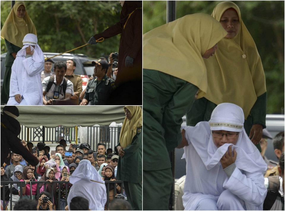 Очередная публичная порка в индонезийской провинции Ачех