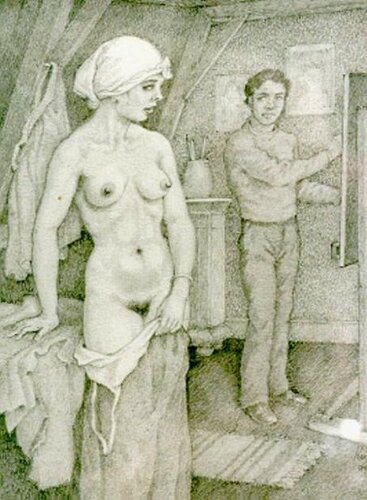 Hubert Bernardus Wilhelmus de Ru The Artist's Model